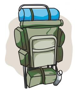 Backpack Color Outline